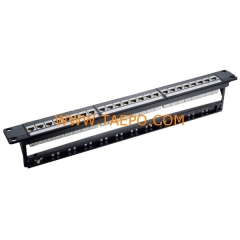 24-Port CAT6 UTP Patch-Panel mit Kabelmanager